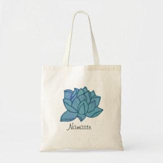 Namaste Blue Lotus Tote