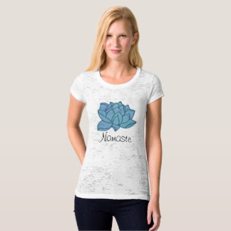 Namaste Blue Lotus Yoga Fitted Tee