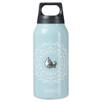 Namaste Blue Merle Corgi Hot + Cold Water Bottle