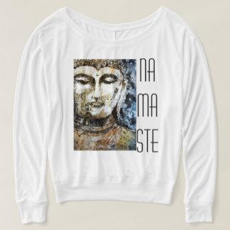 Namaste Buddha Watercolor Art Long Sleeve Tee