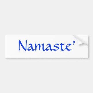 Namaste' Bumper Sticker