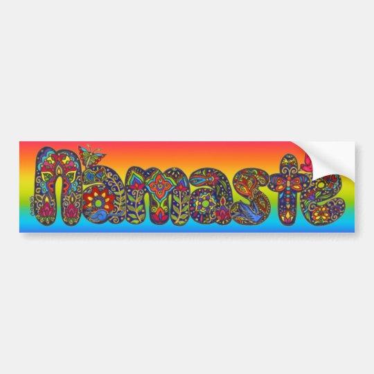 Namaste Bumpersticker by ArtHarmonyCreations Bumper Sticker
