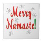 Namaste Christmas Tile