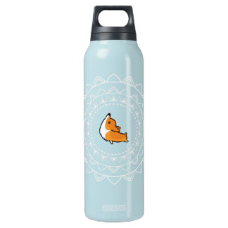 Namaste Corgi Blue Emblem Large Hot+Cold Bottle