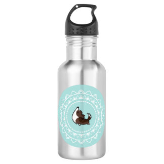 Namaste Corgi Brindle Emblem Water Bottle