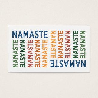 Namaste Cute Colorful Business Card