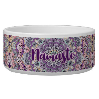 Namaste Cute pink and purple floral mandala