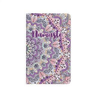 Namaste Cute pink and purple floral mandala Journal