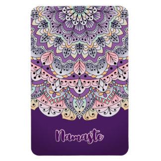 Namaste Cute pink and purple floral mandala Magnet