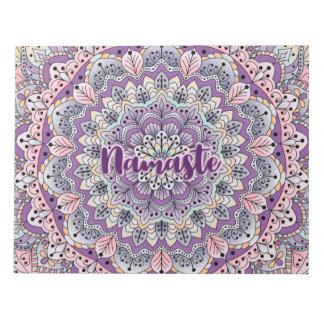 Namaste Cute pink and purple floral mandala Notepad