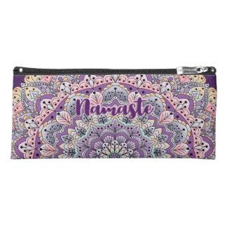 Namaste Cute pink and purple floral mandala Pencil Case