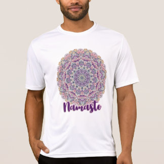 Namaste Cute pink and purple floral mandala T-Shirt
