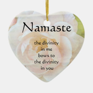 Namaste Divinity Flower Heart Ornament