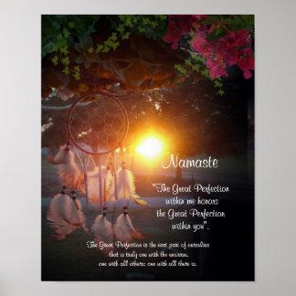 Namaste Dreamcatcher sunset Poster