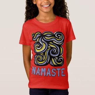 """Namaste"" Girls' Fine Jersey T-Shirt"