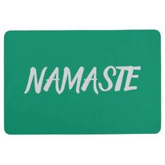 NAMASTE Green Yoga Floor Mat