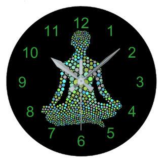 Namaste Half Lotue Yoga Pose Personalized Large Clock