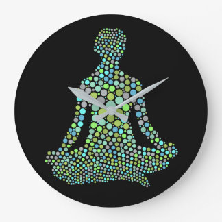 Namaste Half Lotue Yoga Pose Personalized Large Clock