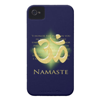 Namaste - I bow to you (in green) iPhone 4 Case-Mate Cases