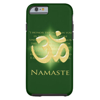 Namaste - I bow to you (in green) Tough iPhone 6 Case