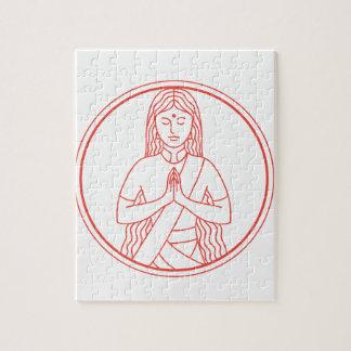 Namaste  Icon Jigsaw Puzzle
