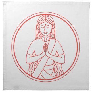 Namaste  Icon Napkin