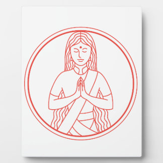 Namaste  Icon Plaque