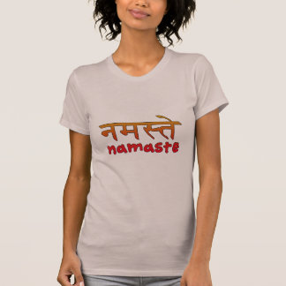 Namaste in English and Hindi Script T-Shirt