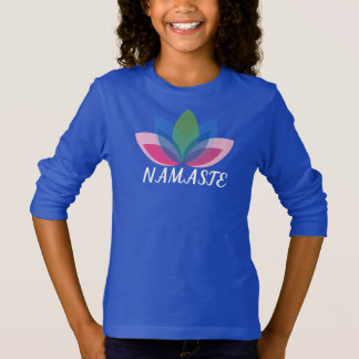 Namaste Long Sleeve Girl's T-shirt