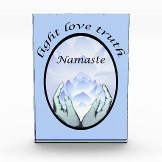 Namaste Lotus Blossom Light Love Truth Acrylic