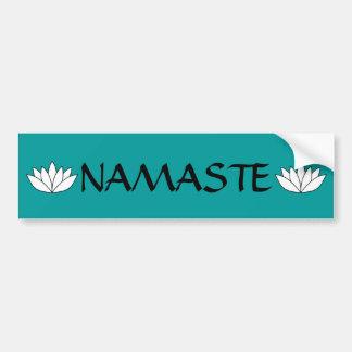 Namaste Lotus Bumper Sticker