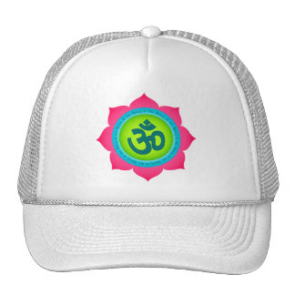 Namaste Lotus Flower Om Yoga Mesh Hats