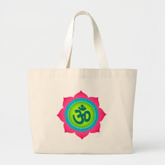 Namaste Lotus Flower Om Yoga Jumbo Tote Bag