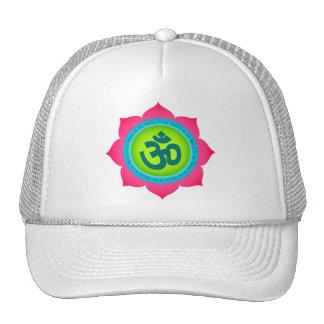 Namaste Lotus Flower Om Yoga Trucker Hat