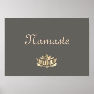 Namaste Lotus Flower Poster