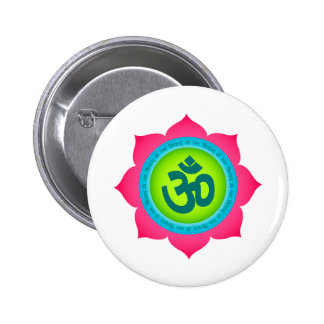 Namaste Lotus Flower Yoga Om Button