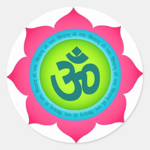 Namaste Lotus Flower Yoga Om Stickers