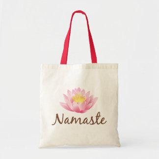 Namaste Lotus Flower Yoga Tote Bag