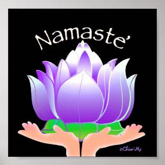 Namaste' Lotus Poster