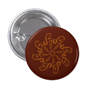 Namaste Mandala 1 Inch Round Button