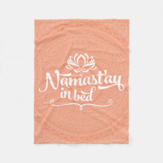 Namaste Mandala Funny Quote Fleece Blanket