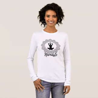 Namaste Mandala Yoga Long Women`s Sleeve T-Shirt