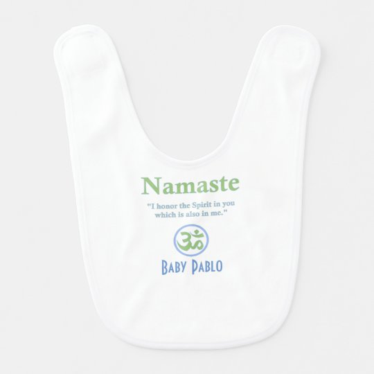 Namaste meaning with Om Symbol Bib