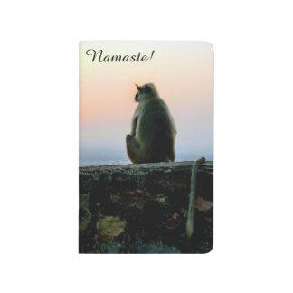 Namaste Meditation Yoga Monkey in India at Sunset Journal