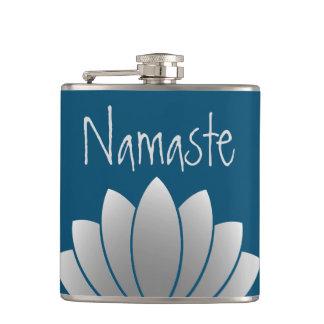 Namaste Modern Lotus Floral Flasks