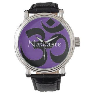 Namaste & Om Symbol Watch