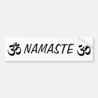 Namaste OM YOGA Bumper Sticker