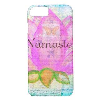 Namaste PINK LOTUS Peaceful Art iPhone 7 Case