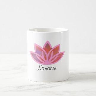 Namaste Pink Multicolor Lotus Mug