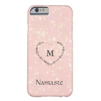 Namaste pink sparkle barely there iPhone 6 case